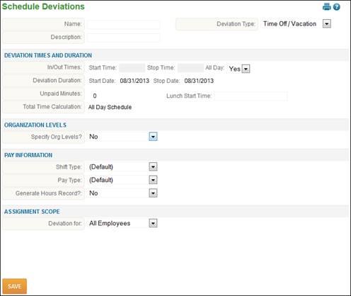 schedules schedule deviation